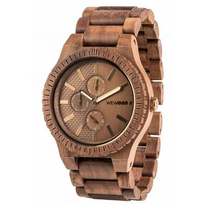 WeWood WW30004 Multifunktion Holzuhr Kos Nut Bronze 0610373991111