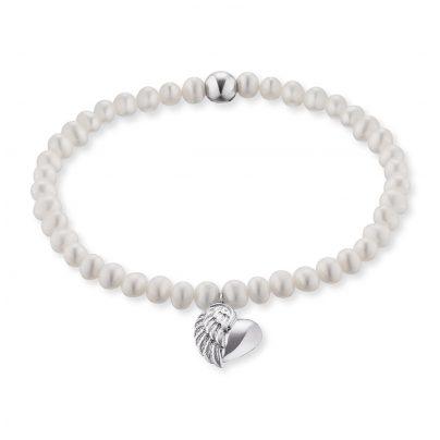 Engelsrufer ERB-HEARTWING-PE Damen-Armband Perlen mit Herzflügel 4260562168921