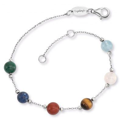 Engelsrufer ERB-LILGEM-6ST Silver Women's Bracelet with 6 Powerful Stones 4260645866416