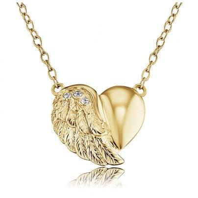 Engelsrufer ERN-LILHEARTWING-G Damen-Halskette Herzflügel Goldfarben 4260463194210