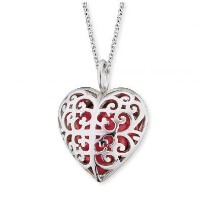 Engelsrufer ERN-05-HEART-S Damenhalskette mit Herz-Anhänger Rot 4260562166880