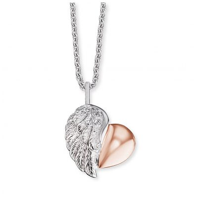 Engelsrufer ERN-LILHEARTWING-BI Ladies´ Necklace Heartwing Two-Tone 4260562167122