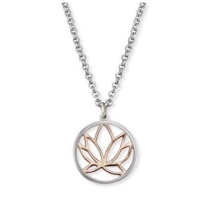 Engelsrufer ERN-LILLOTUS-BICOR Silver Necklace for Women Lotus 4260562160796
