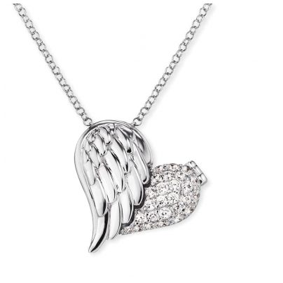 Engelsrufer ERN-WITHLOVE-02-ZI Necklace Heartwing With Love Zirconia 4260562168839