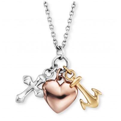 Engelsrufer ERN-FLH-TRICO Damen-Halskette Glaube, Liebe, Hoffnung 4260645869721