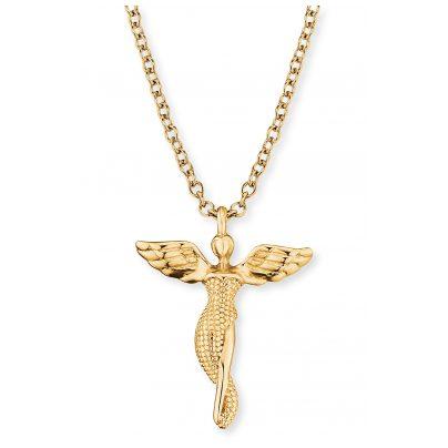 Engelsrufer ERN-LILANGEL-G Silber-Halskette für Damen Engel goldfarben 4260645869448