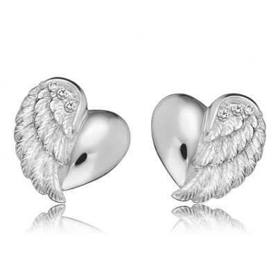 Engelsrufer ERE-LILHEARTWING-ST Ladies Ear Studs Heartwing 4260463194685