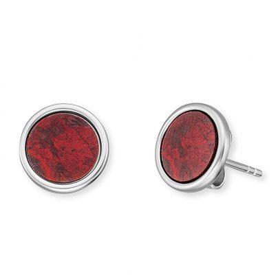 Engelsrufer ERE-RJ-ST Ladies' Stud Earrings Silver Powerful Stone Red Jasper 4260645869790