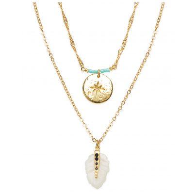 Hipanema E20PLATWH Damen-Halskette Platinium Weiß 3700839141635