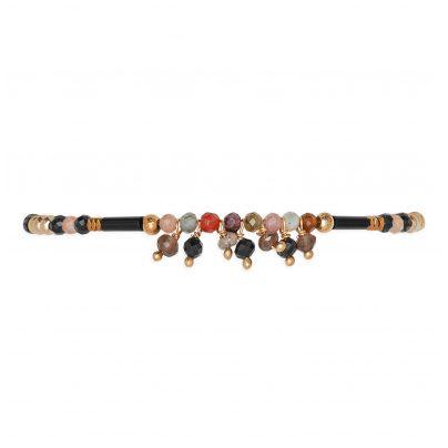 Hipanema H19CRUSBLK Damen-Armband Crush Black 3700839109857