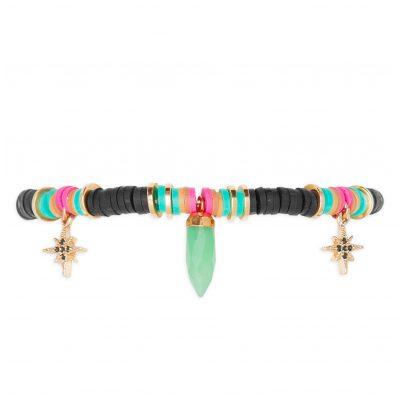 Hipanema E19MACYBLKGO Damen-Armband Macy Black-Gold 3700839154017