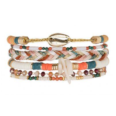 Hipanema E20MCUBAWH Damen-Armband Cubanita Weiß M 3700839141291