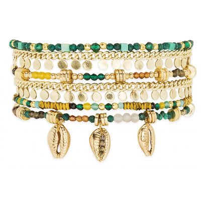 Hipanema E20MAPPOG Damen-Armband Appollon Grün 3700839140898