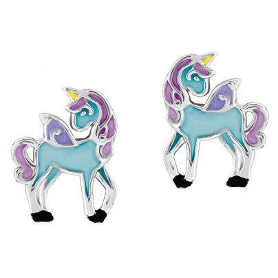 Prinzessin Lillifee 2013159 Einhorn Blue Kinder-Ohrstecker 4056867001892