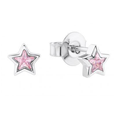 Prinzessin Lillifee 2024372 Silber Mädchen-Ohrringe Stern Rosa 4056867015738