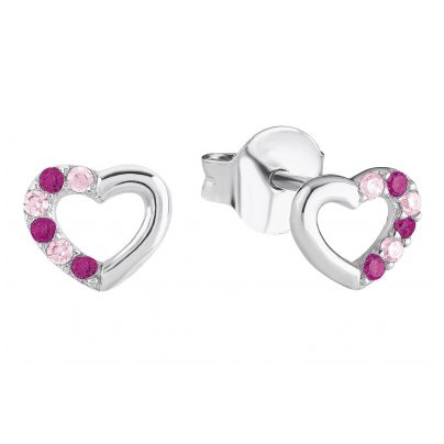 Prinzessin Lillifee 2024375 Silber Herz-Ohrringe für Mädchen 4056867015769