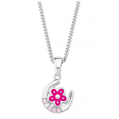 Prinzessin Lillifee 2021029 Silver Children's Necklace Horseshoe and Flower 4056867010245