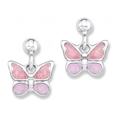 Prinzessin Lillifee 9082568 Silver Children's Earrings Butterflies 4020689082568