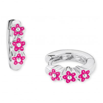 Prinzessin Lillifee 2021026 Silber Kinder-Ohrringe Creolen Blumen 4056867010221