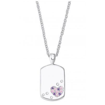 Prinzessin Lillifee 2027206 Silber Kinder-Halskette Dog Tag mit Herz 4056867019804