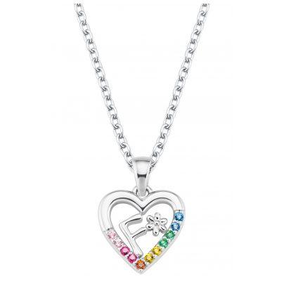 Prinzessin Lillifee 2027881 Silber Mädchen-Halskette Herz F 4056867022118