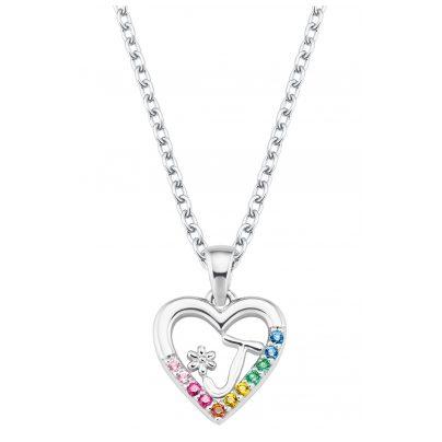 Prinzessin Lillifee 2027883 Silber Kinder-Halskette Herz J 4056867022132