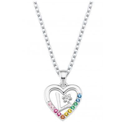Prinzessin Lillifee 2027885 Silver Children's Necklace Heart L 4056867022156