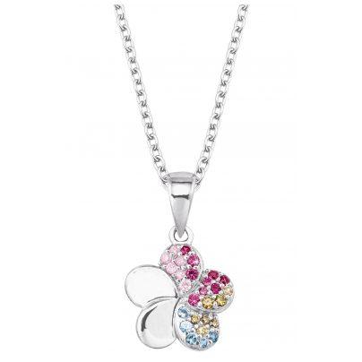 Prinzessin Lillifee 2027896 Silber-Halskette für Kinder Blume 4056867022279