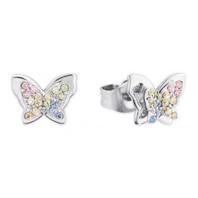Prinzessin Lillifee 2027901 Silber Ohrringe für Mädchen Schmetterling bunt 4056867022316
