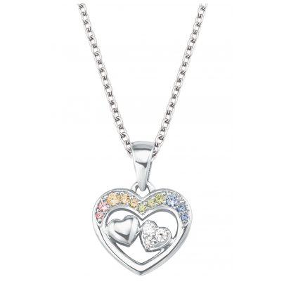 Prinzessin Lillifee 2027905 Silber-Halskette für Kinder Herz 4056867022354