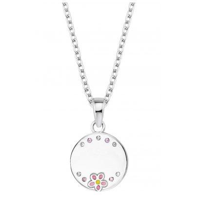 Prinzessin Lillifee 2027908 Silber-Kette für Kinder Collier Blume Mädchen 4056867022385