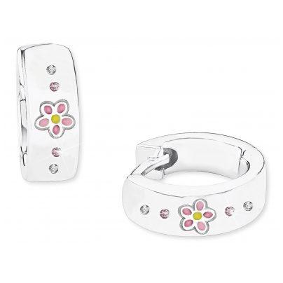 Prinzessin Lillifee 2027909 Silber-Ohrringe für Kinder Creolen Blume Mädchen 4056867022392