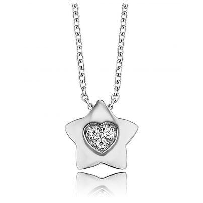Herzengel HEN-HEARTSTAR-ZI Kinder-Halskette Stern mit Herz 4260562169577
