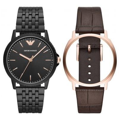 Emporio Armani AR80021 Watch Set for Men 4013496069723