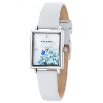 Julie Julsen JJW102SL-4 Ladies' Wristwatch Flowers White 9120098050099
