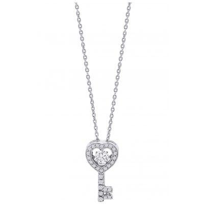 Julie Julsen JJDNE0528.1 Damen-Halskette Dancing Stone Schlüssel Silber 9120098051836