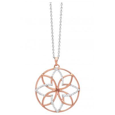 Julie Julsen JJNE0717.8 Silber Damen-Halskette Lotusblüte roségold 9120098054189