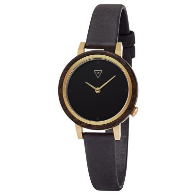 Kerbholz Wooden Ladies Watch Luise Sandalwood Midnight Black 4251240403953