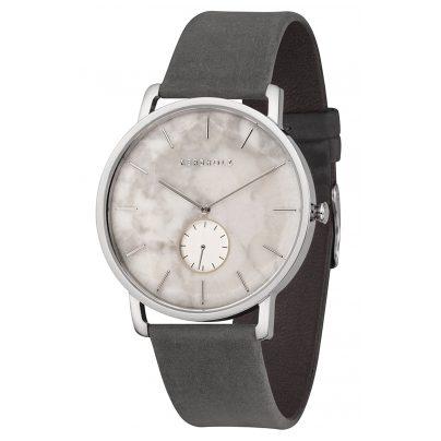 Kerbholz Herren-Armbanduhr Fritz Weißer Marmor/Asphaltgrau 4251240404257