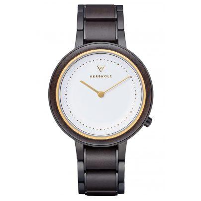 Kerbholz Damen-Armbanduhr Holzuhr Thea Sandelholz/Gold 4251240414225