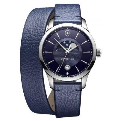 Victorinox 241755 Alliance Small Damenuhr mit Mondphase Blau 7630000723789
