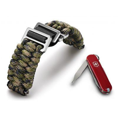 Victorinox 60023 I.N.O.X Paracord Armband Grün-Camouflage 7630000725455
