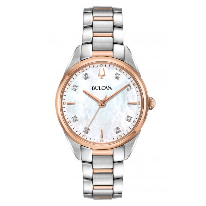 Bulova 98P183 Damen-Armbanduhr Classic mit Diamanten 7613077561096