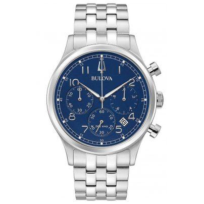 Bulova 96B358 Herrenuhr Chronograph Classic Blau 0042429586390