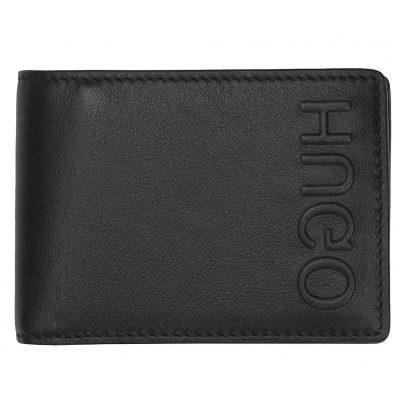 Hugo 50397402 Men's Leather Wallet Bolster Black 4029048025635