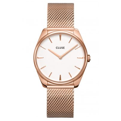 Cluse CW0101212002 Ladies' Wristwatch Féroce Rose Gold/White 8719743376229
