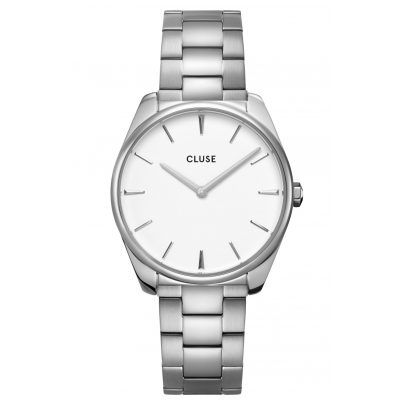 Cluse CW0101212003 Women's Watch Féroce Steel/White 8719743376236