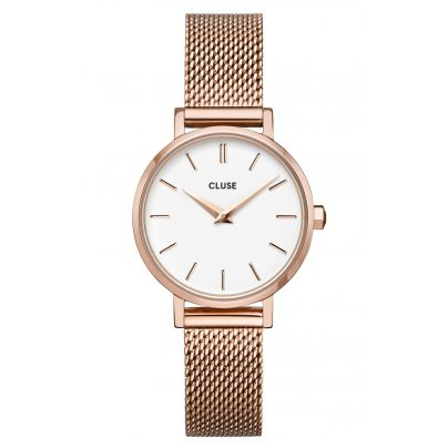 Cluse CW0101211003 Damenuhr La Boheme Petite Mesh-Armband roségold / weiß 8719743376175