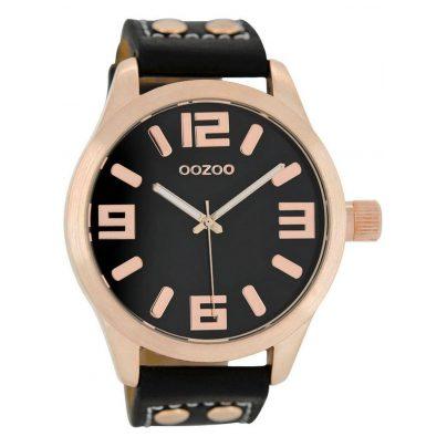 Oozoo C1159 XL Armbanduhr Schwarz/Roségold 46 mm 9879012492308