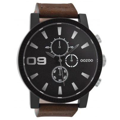 Oozoo C9033 Herren-Armbanduhr im Chrono-Look Braun/Schwarz 50 mm 9879012517384